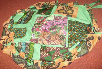 afro caribbean storybag made for Cuming Museum. The Cuming Museum, London